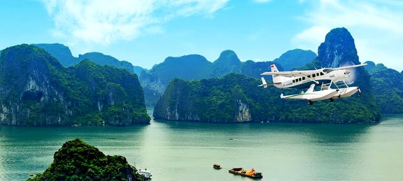 Seaplane Ha Long - Hanoi by Hai Au Aviation, the only airline offering direct flights from Hanoi to Ha Long and seaplane tours in Ha Long Bay