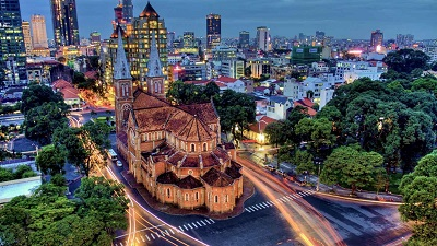 Beauty of Saigon by night